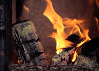combustion buche de bois foyer