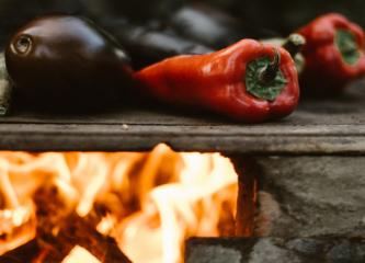 cuisson feu de bois